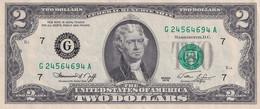 U.S.A. 2 Dollars FEDERAL RESERVE Type Jefferson Séries 1976 , Chicago Illinois - Bilglietti Della Riserva Federale (1928-...)