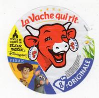 Sept20 8 AA 106   étiquette Vache Qui Rit Séjour Magique Disneyland   Pixar  8 Portions - Cheese