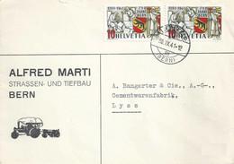 """Motiv Brief  """"Marti, Strassen-/Tiefbau, Bern""""  Liebefeld         1941 - Covers & Documents"""