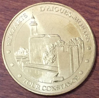 30 AIGUES MORTES TOUR CONSTANCE MEDAILLE TOURISTIQUE MONNAIE DE PARIS 2010 JETON MEDALS COINS TOKENS - Monnaie De Paris