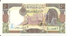 SYRIE 50 POUNDS 1998 UNC P 107 - Siria