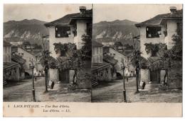 CPA Stereo ITALIE - 4. Lacs D'Italie. Une Rue D'Orta. Lac D'Orta - LL (Italia) - Otras Ciudades