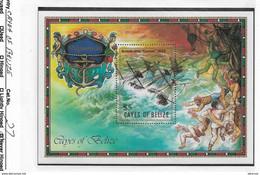 "Cayes Of Belize 1985 S/S, $5 British Ship ""Comet"" Shipwreck, Scott # 27,VF MNH** - Belize (1973-...)"