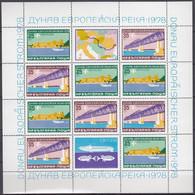 BULGARIEN  2652-2653, Kleinbogen, Postfrisch **, Donauschifffahrt (Europäische Donaukommission) 1978 - 1978