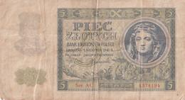 POLOGNE - 5 Zlotych - Krakow 1941 R. Série AC - - Polonia