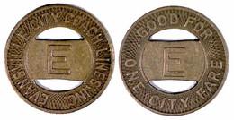 01664 GETTONE JETON TOKEN BRIDGE TOKEN TRASPORTI TRANSPORT INDIANA EVENSVILLE 1948 - Non Classificati