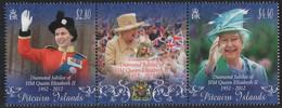 Pitcairn 2012 - Mi-Nr. 855-856 ** - MNH - 60. Jahrestag Der Thronbesteigung - Stamps