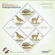 COSTA RICA BICENTENNIAL INDEPENDENCE, MANATEES, DEERS, BIRDS, Sc 701 MNH 2018 - Costa Rica