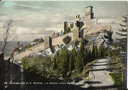 H-(73)REPUBBLICA DI S.MARINO-LA ROCCA VISTA DAI CAPPUCCINO - San Marino