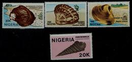 NIGERIA 1987 SHELLS MI No 499-502 MNH VF!! - Marine Life