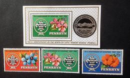 PENRHYN - Scoutisme, Orchidées - Bloc Feuillet N° 45 - 1983 - Penrhyn