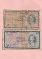 Grand Duché De Luxembourg  - Lot De 2 Billets De 10 Francs Et 20 Francs - - Luxembourg