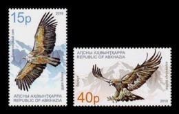 Abkhazia 2019 Mih. 1004/05 Fauna. National Birds. Griffon Vulture And Golden Eagle MNH ** - Georgia