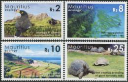 MAURITIUS 2006 Ecological History Ecology Bird Birds Marine Life Turtle Turtles Reptiles Animals Fauna MNH - Schildkröten