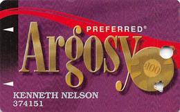 Argosy Casinos Slot Card - Web Address Alone On Reverse Bottom Line, Heart Punch For Seniors - Carte Di Casinò