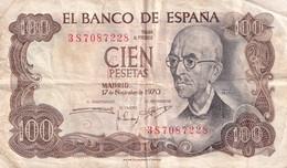 ESPAGNE - El Banco De Espana - 100 Pesetas  Madrid 17/11/1970 - - [ 3] 1936-1975: Regime Van Franco