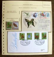 54195 Grande Bretagne Great Britain Fdc Roumanie Romania Papillons Schmetterlinge Butterfly Butterflies Neufs ** MNH - Butterflies