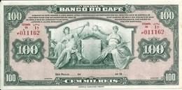 BRESIL 100000 REIS BANCO DO CAFE UNC P S541 - Brasil