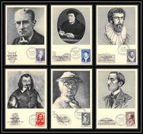 0962/ Carte Maximum (card) France N°1066/1071 Célébrités 1956 TTB Fdc Premier Jour - Brieven En Documenten