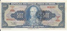 BRESIL 500 CRUZEIROS ND1967 UNC P 186 - Brasil
