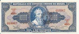 BRESIL 1000 CRUZEIROS ND1966-67 UNC P 187 B - Brasil