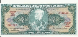 BRESIL 2 CRUZEIROS ND1956-58 UNC P 157A B - Brasil