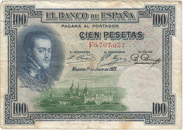 España - Spain 100 Pesetas 1-7-1925 Pk 69c Ref 668-15 - [ 1] …-1931 : Prime Banconote (Banco De España)