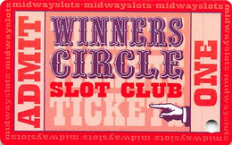 Harrington Raceway Midway Slots - Harrington, DE - BLANK Slot Card - Carte Di Casinò