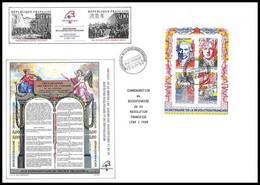 665 France Bicentenaire Révolution Francaise N° Bloc 12 Fdc Philexfrance 89 - French Revolution