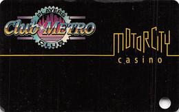 Motor City Casino - Detroit, MI USA - BLANK 3rd Issue Slot Card - 21mm Wide CASINO - Carte Di Casinò