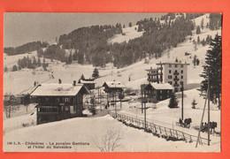 ZBB-18 Chésières La Pension Gentiana Et L'Hòtel Du Belvédère. Cachet Villars 1908 - VD Vaud