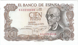 España - Spain 100 Pesetas 17-11-1970 Pk 152a.3 Ref 704-3 - [ 3] 1936-1975: Regime Van Franco