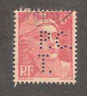 Perforé/perfin/lochung France No 721A P.C. T. Paul Et Charles Tiberghien - Perforadas