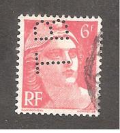 Perforé/perfin/lochung France No 721A TB Tubes De Besseges - Perforadas