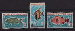 Wallis Et Futuna - Taxe N°37 à 39 - Faune - Poissons - Cote 6€ - * Neufs Avec Trace De Charniere - Postage Due