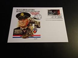 M10724 - First Day Of Issue - Card - 1993 - USA - B-24 Liberators Bomb Ploesti Oilfields - WW2
