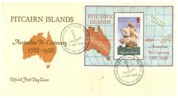 (P 20) Pitcairn Island FDC - Austrialian Bi-Centenary - 1988 - Stamps