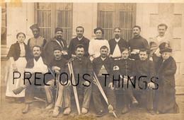 SAUMUR  49 CARTE PHOTO MILITAIRE GUERRE 14 18  SOLDATS BLESSES A L HÔPITAL  EN 1915 - Saumur