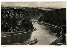 (P 21) Very Old Postcard - Rheim River And Ship - Ferries