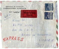 (P 22)   Germany - 2 Cover - 1 X N/V Lagoa Cover Posted To Portugal + 1 Hanau/M - Barche