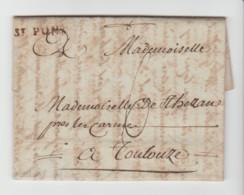 HERAULT: St PONS,, Lenain N° 1 + TM 6 / LAC De 1787 à Propos D'un Procès Contre La Communauté De La Salvetat  . - 1849-1876: Periodo Clásico