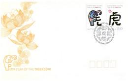 (P 24) Chistmas Island (Austraia) Chhinses New Year Of The Tiger (+ Bonus Free Cat Postcard) - Christmas Island