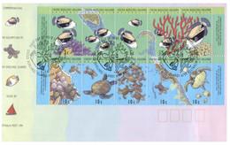 (P 24) Australia - Cocos Island FDC - Fish (2 Covers) 1994 - Cocos (Keeling) Islands