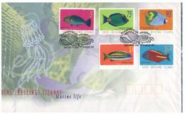 (P 24) Australia  - Cocos Island Marine Life - Fish (1 FDC Covers) - Cocos (Keeling) Islands