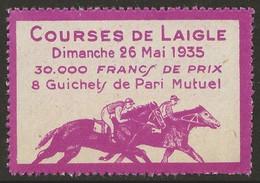 France 1935 Vignette Hippodrome Courses De Chevaux De Laigle Pari Mutuel Très Beau Sans Charnière - Otros