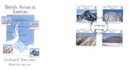 (P 24) British Antarctic Territory - FDC - Geological - 1995 - FDC