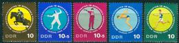 DDR - Mi 1133 / 1137 - ** Postfrisch (B) - WM Im Modernen Fünfkampf - [6] Democratic Republic