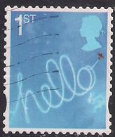 GB 2008 QE2 1st Smilers Hello Aircraft Sky Writing Used SG 2819 ( R1191 ) - 1952-.... (Elizabeth II)