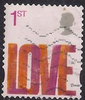 GB 2008 QE2 1st Smilers Love Used 4th Series SG 2820 ( J1294 ) - 1952-.... (Elizabeth II)