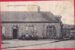 Dépt 72 - VOUVRAY-SUR-HUISNE (131 Hab. !) - Centre Du Bourg - Café De L'Huisne ROGER Épicerie, Mercerie - Frankreich